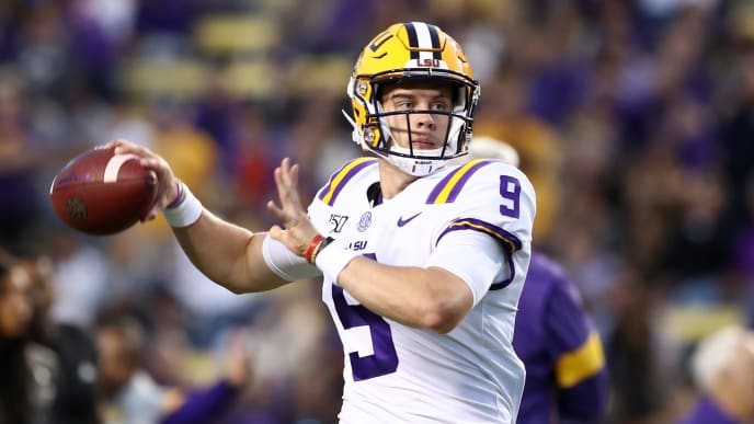 Joe Burrow attempts a pass against Florida in Week 7.
