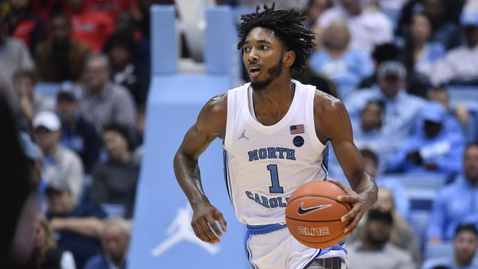 CHAPEL HILL, NORTH CAROLINA - NOVEMBER 15: Leaky Black #1 of the North Carolina Tar Heels during their game against the Gardner-Webb Runnin Bulldogs at the Dean Smith Center on November 15, 2019 in Chapel Hill, North Carolina. North Carolina won 77-61. (Photo by Grant Halverson/Getty Images)