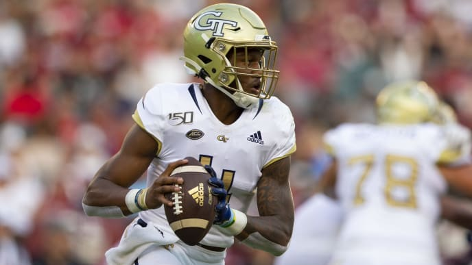 PHILADELPHIA, PA - SEPTEMBER 28: James Graham #4 of the Georgia Tech Yellow Jackets in action against the Temple Owls at Lincoln Financial Field on September 28, 2019 in Philadelphia, Pennsylvania. The Temple Owls defated the Georgia Tech Yellow Jackets 24-2. (Photo by Mitchell Leff/Getty Images)
