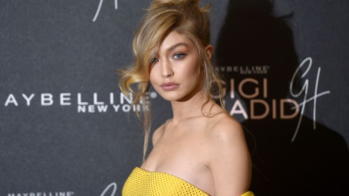"""LONDON, ENGLAND - NOVEMBER 07:  Gigi Hadid attends the Gigi Hadid X Maybelline party held at """"Hotel Gigi"""" on November 7, 2017 in London, England.  (Photo by Stuart C. Wilson/Getty Images)"""