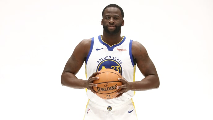 SAN FRANCISCO, CALIFORNIA - SEPTEMBER 30:  Draymond Green #23 of the Golden State Warriors poses for a picture during the Golden State Warriors media day at Chase Center on September 30, 2019 in San Francisco, California. NOTE TO USER: User expressly acknowledges and agrees that, by downloading and or using this photograph, User is consenting to the terms and conditions of the Getty Images License Agreement.  (Photo by Ezra Shaw/Getty Images)