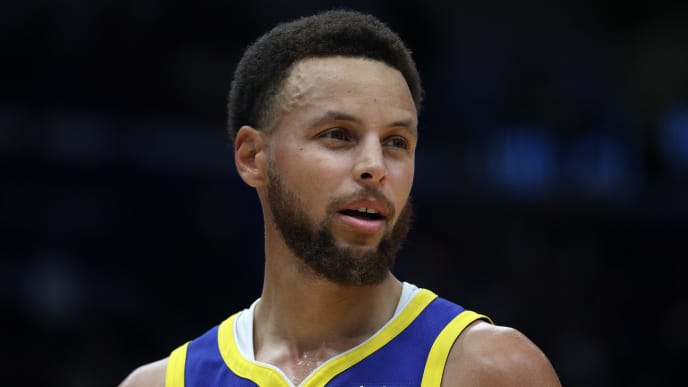NEW ORLEANS, LOUISIANA - OCTOBER 28: Stephen Curry #30 of the Golden State Warriors looks on during the game against the New Orleans Pelicans  at Smoothie King Center on October 28, 2019 in New Orleans, Louisiana. NOTE TO USER: User expressly acknowledges and agrees that, by downloading and/or using this photograph, user is consenting to the terms and conditions of the Getty Images License Agreement (Photo by Chris Graythen/Getty Images)