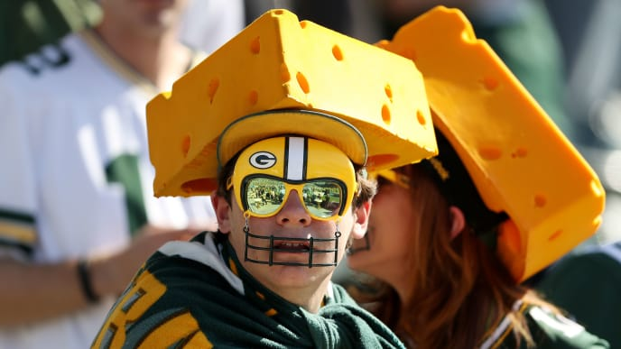 CARSON, CALIFORNIA - NOVEMBER 03: Green Bay Packers fans look on before the game between the Los Angeles Chargers and the Green Bay Packers at Dignity Health Sports Park on November 03, 2019 in Carson, California. (Photo by Sean M. Haffey/Getty Images)