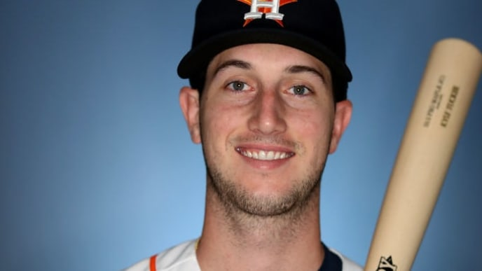 WEST PALM BEACH, FLORIDA - FEBRUARY 19: Kyle Tucker #3 of the Houston Astros poses for a portrait during photo days at FITTEAM Ballpark of The Palm Beaches on February 19, 2019 in West Palm Beach, Florida. (Photo by Rob Carr/Getty Images)