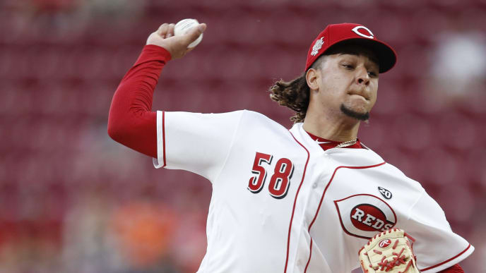 CINCINNATI, OH - JUNE 17: Luis Castillo #58 of the Cincinnati Reds pitches in the first inning against the Houston Astros at Great American Ball Park on June 17, 2019 in Cincinnati, Ohio. (Photo by Joe Robbins/Getty Images)