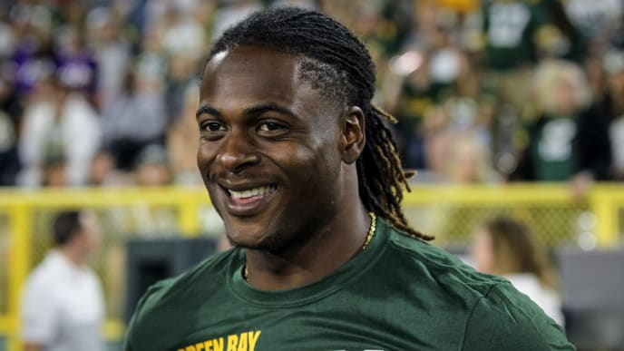 GREEN BAY, WISCONSIN - AUGUST 08:  Davante Adams #17 of the Green Bay Packers looks on in the fourth quarter against the Houston Texans during a preseason game at Lambeau Field on August 08, 2019 in Green Bay, Wisconsin. (Photo by Dylan Buell/Getty Images)