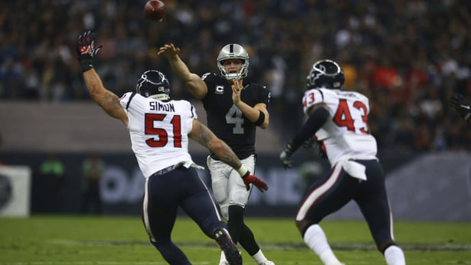 Los Raiders y los Texans animaron un gran partido en Ciudad de México en 2016