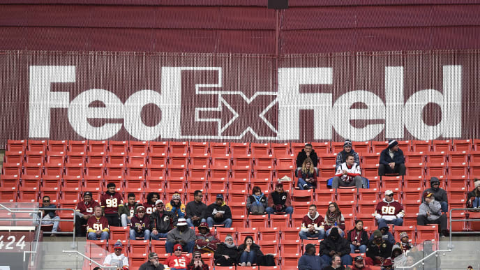 LANDOVER, MD - NOVEMBER 18: A general view of the upper deck as fans watch a game between the Houston Texans and Washington Redskins at FedExField on November 18, 2018 in Landover, Maryland. (Photo by Patrick McDermott/Getty Images)