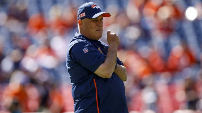 DENVER, CO - SEPTEMBER 29:  Head coach Vic Fangio of the Denver Broncos looks on before a game against the Jacksonville Jaguars at Empower Field at Mile High on September 29, 2019 in Denver, Colorado. (Photo by Justin Edmonds/Getty Images)