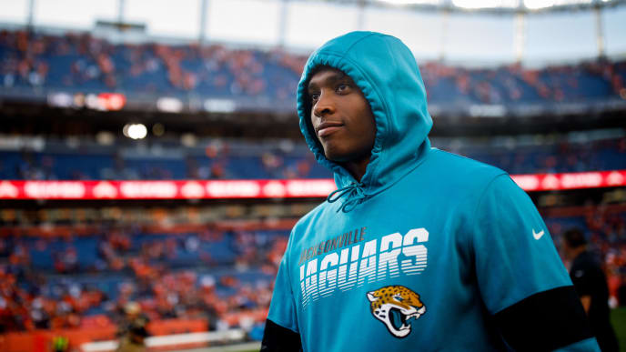 DENVER, CO - SEPTEMBER 29:  Cornerback Jalen Ramsey #20 of the Jacksonville Jaguars walks on the field against the Denver Broncos after the game at Empower Field at Mile High on September 29, 2019 in Denver, Colorado. The Jaguars defeated the Broncos 26-24. (Photo by Justin Edmonds/Getty Images)