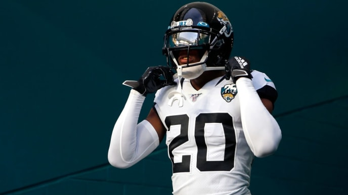 MIAMI, FLORIDA - AUGUST 22:  Jalen Ramsey #20 of the Jacksonville Jaguars takes the field prior to the preseason game against the Miami Dolphins at Hard Rock Stadium on August 22, 2019 in Miami, Florida. (Photo by Michael Reaves/Getty Images)