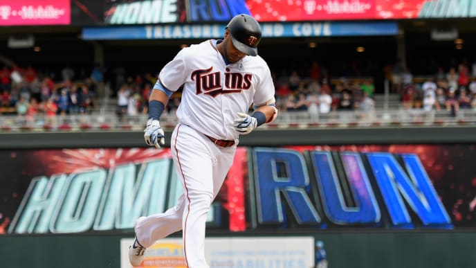 MINNEAPOLIS, MN - JUNE 16: Nelson Cruz #23 of the Minnesota Twins rounds the bases after hitting a solo home run against the Kansas City Royals during the seventh inning of the game on June 16, 2019 at Target Field in Minneapolis, Minnesota. The Royals defeated Twins 8-6. (Photo by Hannah Foslien/Getty Images)