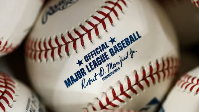 HOUSTON, TX - OCTOBER 19:  Baseballs are seen before  Game Six of the League Championship Series between the Houston Astros and the New York Yankees at Minute Maid Park on October 19, 2019 in Houston, Texas.  (Photo by Tim Warner/Getty Images)