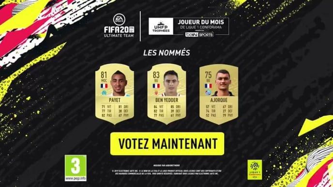 The Ligue 1 Player of the Month nominees for December were revealed Monday