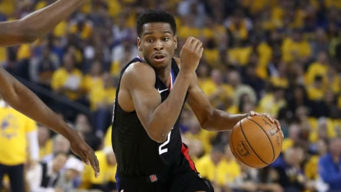 OAKLAND, CALIFORNIA - APRIL 13:   Shai Gilgeous-Alexander #2 of the LA Clippers in action against the Golden State Warriors during Game One of the first round of the 2019 NBA Western Conference Playoffs at ORACLE Arena on April 13, 2019 in Oakland, California. NOTE TO USER: User expressly acknowledges and agrees that, by downloading and or using this photograph, User is consenting to the terms and conditions of the Getty Images License Agreement. (Photo by Ezra Shaw/Getty Images)
