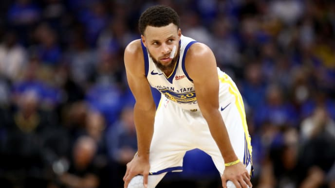 SAN FRANCISCO, CALIFORNIA - OCTOBER 24:   Stephen Curry #30 of the Golden State Warriors stands on the court during their game against the LA Clippers at Chase Center on October 24, 2019 in San Francisco, California.  NOTE TO USER: User expressly acknowledges and agrees that, by downloading and or using this photograph, User is consenting to the terms and conditions of the Getty Images License Agreement. (Photo by Ezra Shaw/Getty Images)