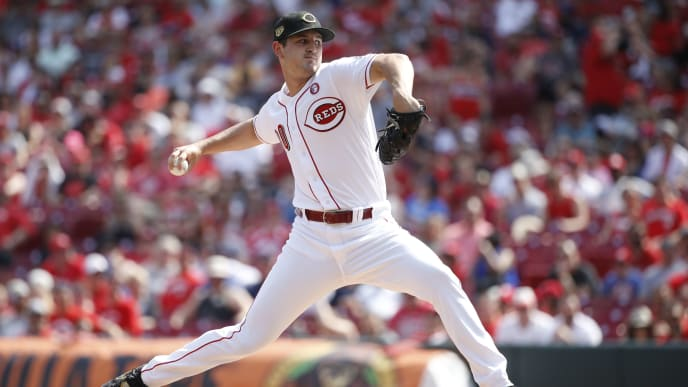 CINCINNATI, OH - MAY 18: Tyler Mahle #30 of the Cincinnati Reds pitches in the first inning against the Los Angeles Dodgers at Great American Ball Park on May 18, 2019 in Cincinnati, Ohio. (Photo by Joe Robbins/Getty Images)
