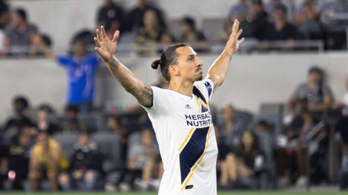 Zlatan durante un partido de la MLS