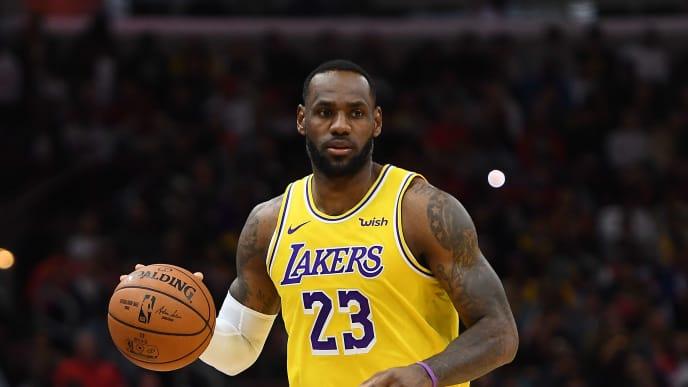 LeBron James durante un partido en la temporada 2019 de la NBA