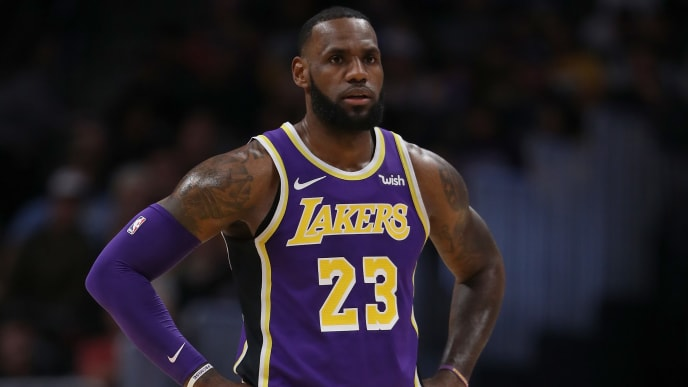 DENVER, CO - NOVEMBER 27:  Lebron James #23 of the Los Angeles Lakers plays the Denver Nuggets at the Pepsi Center on November 27, 2018 in Denver, Colorado.  (Photo by Matthew Stockman/Getty Images) NOTE TO USER: User expressly acknowledges and agrees that, by downloading and or using this photograph, User is consenting to the terms and conditions of the Getty Images License Agreement.  (Photo by Matthew Stockman/Getty Images)