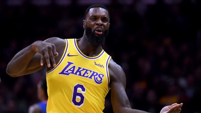 LOS ANGELES, CALIFORNIA - JANUARY 31:  Lance Stephenson #6 of the Los Angeles Lakers celebrates his three pointer during a 123-120 win over the LA Clippers at Staples Center on January 31, 2019 in Los Angeles, California.  NOTE TO USER: User expressly acknowledges and agrees that, by downloading and or using this photograph, User is consenting to the terms and conditions of the Getty Images License Agreement.  (Photo by Harry How/Getty Images)