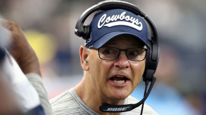 ARLINGTON, TEXAS - SEPTEMBER 22:  Defensive coordinator Rod Marinelli of the Dallas Cowboys at AT&T Stadium on September 22, 2019 in Arlington, Texas. (Photo by Ronald Martinez/Getty Images)