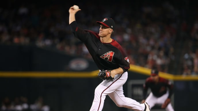 PHOENIX, ARIZONA - JULY 20:  Starting pitcher Zack Greinke #21 of the Arizona Diamondbacks pitches against the Milwaukee Brewers during the first inning of the MLB game at Chase Field on July 20, 2019 in Phoenix, Arizona. (Photo by Christian Petersen/Getty Images)
