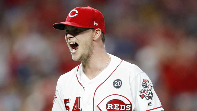 CINCINNATI, OH - JULY 03: Sonny Gray #54 of the Cincinnati Reds reacts after getting the final out in the eighth inning against the Milwaukee Brewers at Great American Ball Park on July 3, 2019 in Cincinnati, Ohio. The Reds won 3-0. (Photo by Joe Robbins/Getty Images)