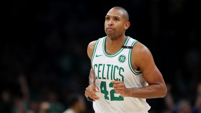 BOSTON, MASSACHUSETTS - MAY 06: Al Horford #42 of the Boston Celtics looks on during the second half of Game 4 of the Eastern Conference Semifinals during the 2019 NBA Playoffs at TD Garden on May 06, 2019 in Boston, Massachusetts. The Bucks defeat the Celtics 113-101. (Photo by Maddie Meyer/Getty Images)