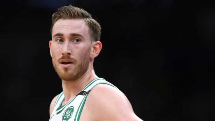BOSTON, MASSACHUSETTS - MAY 03: Gordon Hayward #20 of the Boston Celtics looks on during the second quarter of Game 3 of the Eastern Conference Semifinals of the 2019 NBA Playoffs at TD Garden on May 03, 2019 in Boston, Massachusetts. (Photo by Maddie Meyer/Getty Images)