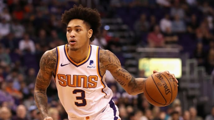 PHOENIX, ARIZONA - MARCH 04:  Kelly Oubre Jr. #3 of the Phoenix Suns handles the ball during the first half of the NBA game against the Milwaukee Bucks at Talking Stick Resort Arena on March 04, 2019 in Phoenix, Arizona. The Suns defeated the Bucks 114-105. (Photo by Christian Petersen/Getty Images)