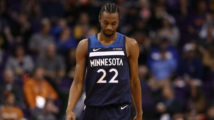 PHOENIX, ARIZONA - JANUARY 22:  Andrew Wiggins #22 of the Minnesota Timberwolves during the second half of the NBA game against the Phoenix Suns at Talking Stick Resort Arena on January 22, 2019 in Phoenix, Arizona. (Photo by Christian Petersen/Getty Images)
