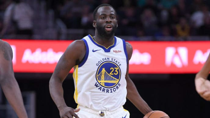 SAN FRANCISCO, CALIFORNIA - OCTOBER 10: Draymond Green #23 of the Golden State Warriors dribbles the ball against the Minnesota Timberwolves during an NBA basketball game at Chase Center on October 10, 2019 in San Francisco, California. NOTE TO USER: User expressly acknowledges and agrees that, by downloading and or using this photograph, User is consenting to the terms and conditions of the Getty Images License Agreement. (Photo by Thearon W. Henderson/Getty Images)