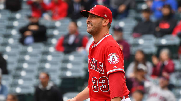 ANAHEIM, CA - MAY 23: Matt Harvey #33 of the Los Angeles Angels of Anaheim watches the three run home run ball hit by Jonathan Schoop #16 of the Minnesota Twins in the second inning clear the wall in the second inning of the game at Angel Stadium of Anaheim on May 23, 2019 in Anaheim, California. (Photo by Jayne Kamin-Oncea/Getty Images)