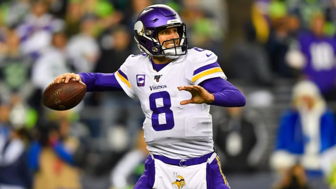 Kirk Cousins threw for 276 yards and two TDs in a losing effort on Monday night.