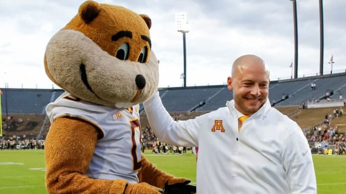 WEST LAFAYETTE, IN - SEPTEMBER 28: Head coach PJ Fleck of the Minnesota Golden Gophers is seen after the game against the Purdue Boilermakers at Ross-Ade Stadium on September 28, 2019 in West Lafayette, Indiana. (Photo by Michael Hickey/Getty Images)