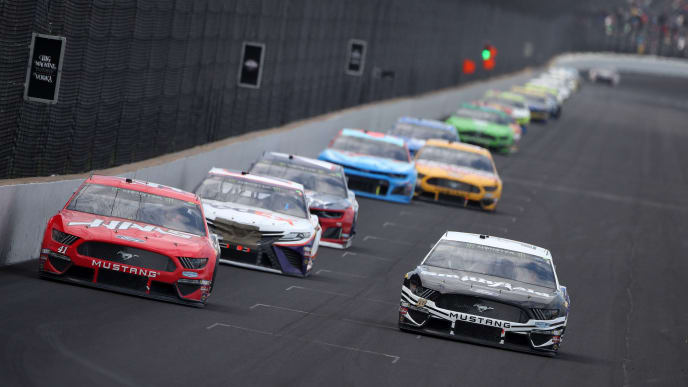 INDIANAPOLIS, INDIANA - SEPTEMBER 08: Daniel Suarez, driver of the #41 Haas Automation Ford, races during the Monster Energy NASCAR Cup Series Big Machine Vodka 400 at the Brickyard at Indianapolis Motor Speedway on September 08, 2019 in Indianapolis, Indiana. (Photo by Chris Graythen/Getty Images)