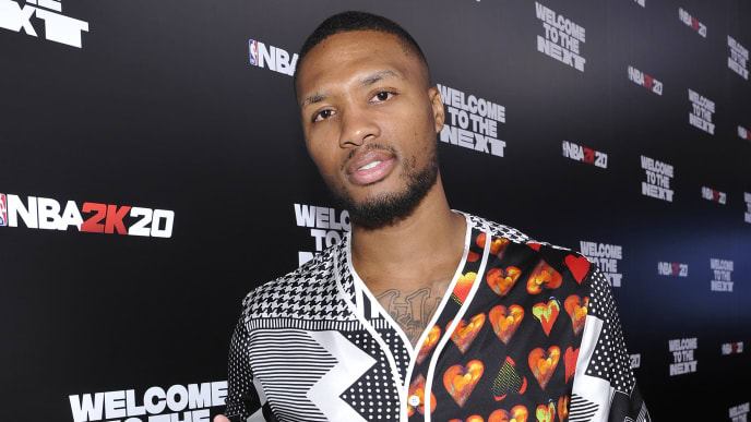 LOS ANGELES, CALIFORNIA - SEPTEMBER 05: Damian Lillard attends the NBA 2K20: Welcome to the Next on September 05, 2019 in Los Angeles, California. (Photo by John Sciulli/Getty Images for NBA 2K20)