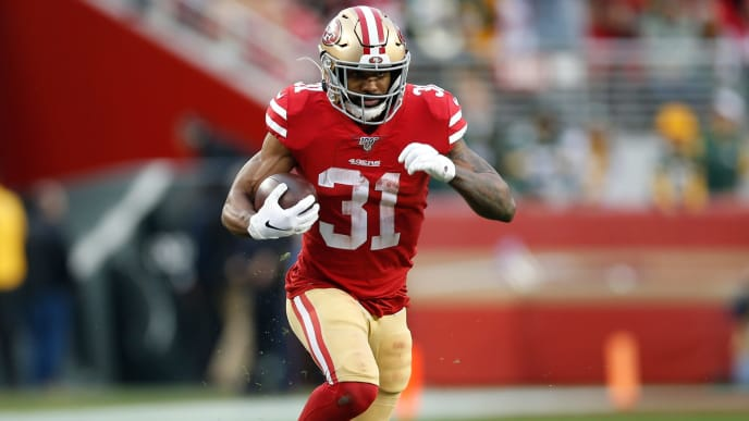 Raheem Mostert rushed for four touchdowns in the NFC Championship.
