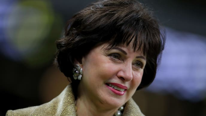 NEW ORLEANS, LOUISIANA - JANUARY 20:  Owner Gayle Benson of the New Orleans Saints is seen before the NFC Championship game at the Mercedes-Benz Superdome on January 20, 2019 in New Orleans, Louisiana. (Photo by Sean Gardner/Getty Images)