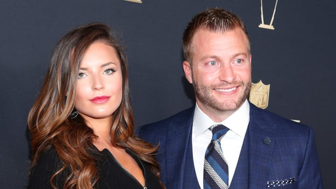 MINNEAPOLIS, MN - FEBRUARY 03:  Veronika Khomyn and Sean McVay attend the NFL Honors at University of Minnesota on February 3, 2018 in Minneapolis, Minnesota.  (Photo by Christopher Polk/Getty Images)