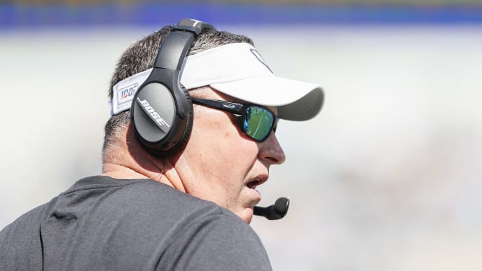 JACKSONVILLE, FLORIDA - OCTOBER 13: Head coach Doug Marrone of the Jacksonville Jaguars looks on during the second quarter of a game against the New Orleans Saints at TIAA Bank Field on October 13, 2019 in Jacksonville, Florida. (Photo by James Gilbert/Getty Images)