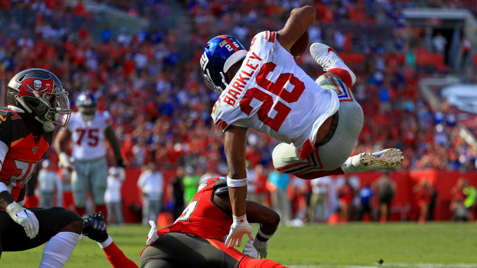 get cheap f5d23 bc457 Giants Release Official Injury Update on Saquon Barkley Postgame