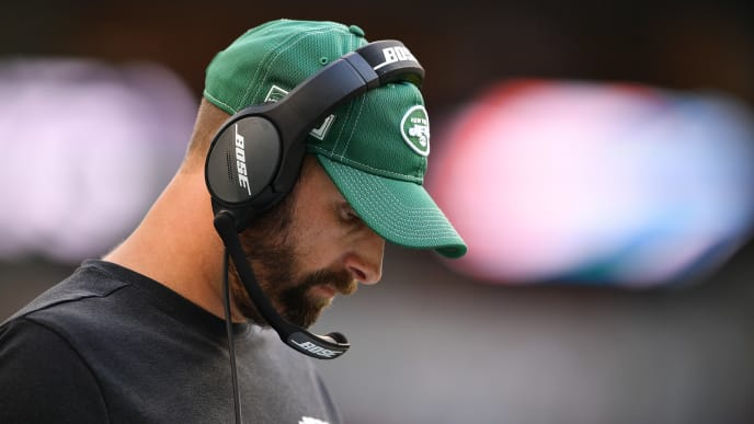 MIAMI, FLORIDA - NOVEMBER 03: Head Coach Adam Gase of the New York Jets coaching against the Miami Dolphins in the third quarter at Hard Rock Stadium on November 03, 2019 in Miami, Florida. (Photo by Mark Brown/Getty Images)