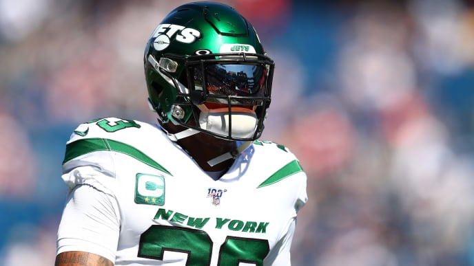 FOXBOROUGH, MASSACHUSETTS - SEPTEMBER 22: Jamal Adams #33 of the New York Jets looks on before the game against the New England Patriots at Gillette Stadium on September 22, 2019 in Foxborough, Massachusetts. (Photo by Adam Glanzman/Getty Images)