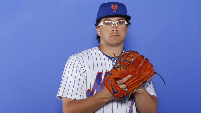 PORT ST. LUCIE, FLORIDA - FEBRUARY 21:  Anthony Kay #79 of the New York Mets poses for a photo on Photo Day at First Data Field on February 21, 2019 in Port St. Lucie, Florida. (Photo by Michael Reaves/Getty Images)