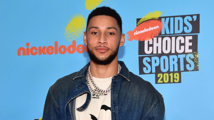 SANTA MONICA, CALIFORNIA - JULY 11: Ben Simmons attends Nickelodeon Kids' Choice Sports 2019 at Barker Hangar on July 11, 2019 in Santa Monica, California. (Photo by Matt Winkelmeyer/Getty Images)