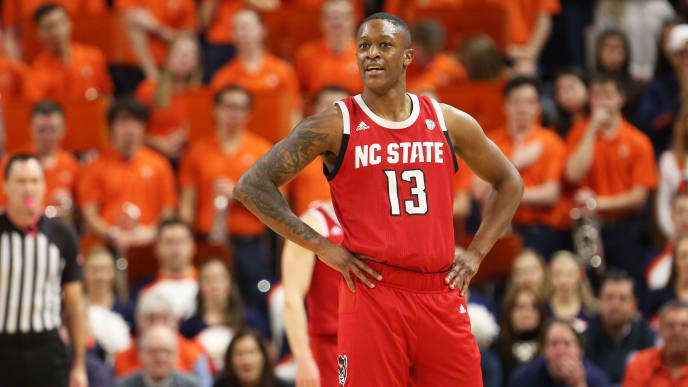 C.J. Bryce leads the NC State Wolfpack in average points (13.9) and rebounds (6.3) per game.