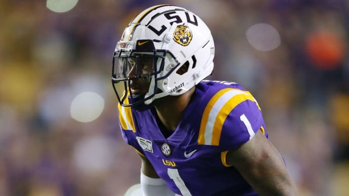 BATON ROUGE, LOUISIANA - SEPTEMBER 14: Kristian Fulton #1 of the LSU Tigers in action during a game against the Northwestern State Demons at Tiger Stadium on September 14, 2019 in Baton Rouge, Louisiana. (Photo by Jonathan Bachman/Getty Images)