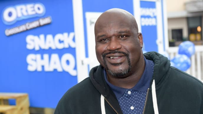 ATLANTA, GA - MARCH 06:  To celebrate National OREO Day, OREO Chocolate Candy Bar teamed up with Basketball Hall of Famer, Shaquille ONeal whose birthday is also March 6 to give away 1 million free OREO Chocolate Candy Bars March 6, 2018 in Atlanta, Georgia. To learn more, follow #OreoBirthdayGiveaway or visit OreoBirthdayGiveaway.com.  (Photo by Marcus Ingram/Getty Images for OREO Chocolate Candy Bar)